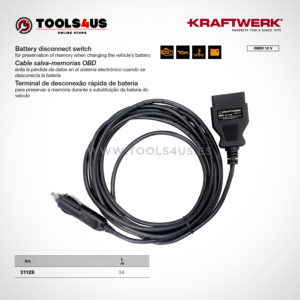Cable salva-memorias OBD
