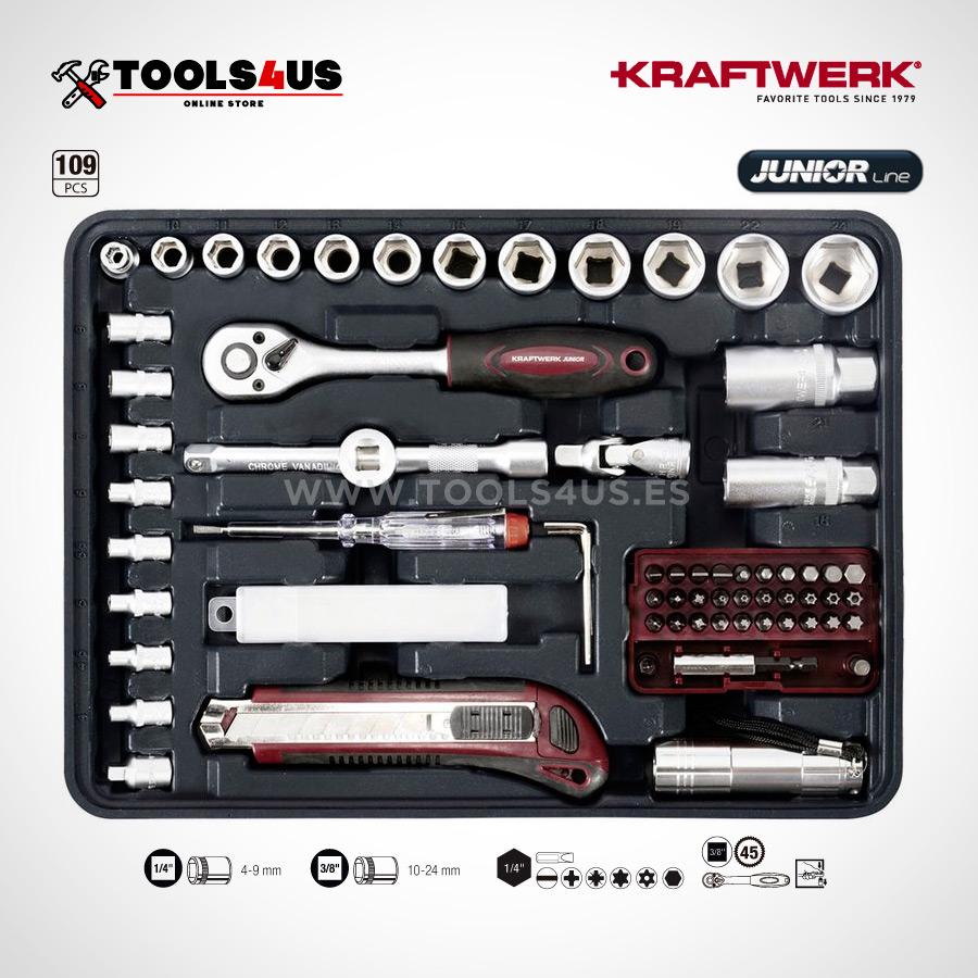 1043 KRAFTWERK maleta aluminio herramientas completo 109 piezas _05