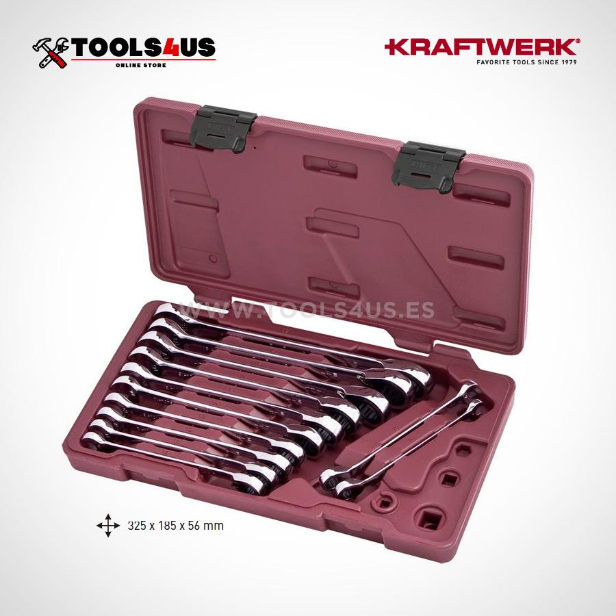 3404-54 KRAFTWERK Juego de llaves combinadas carraca reversibles 12 piezas _01