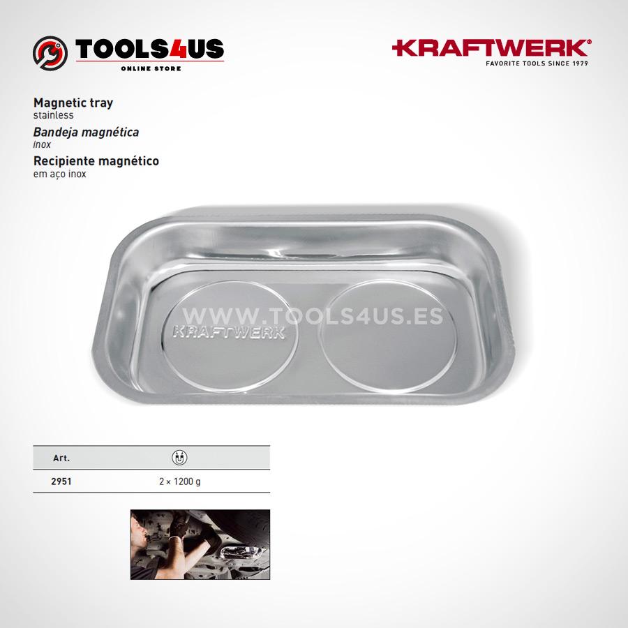 Bandeja magnetica rectangular imantada para taller, fabricada en acero inoxidable tools4us herramientas profesionales 2