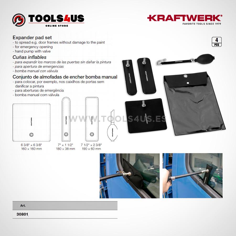 30801 KRAFTWERK herramientas taller barcelona espana cuñas inflables 02 - Cuñas inflables